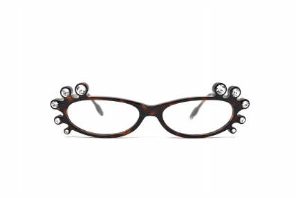 Queen strass. Design spectacles made in Italy